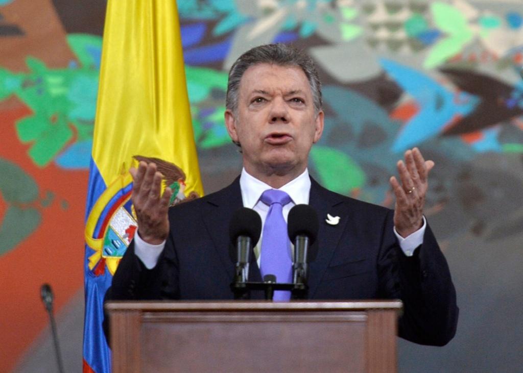 Juan Manuel Santos galardonado con el premio Nobel de la Paz
