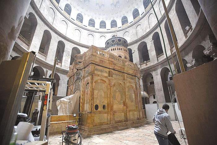 Terminan trabajos de restauración de la tumba de Jesucristo