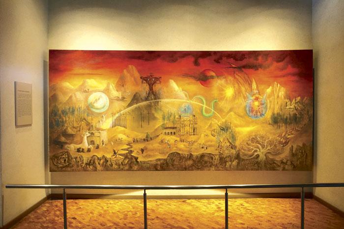 Restauran murales emblemáticos del Museo Nacional de Antropología
