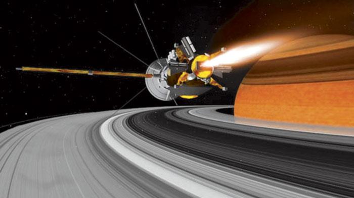 La nave Cassini entra a los anillos de Saturno, la última fase de su misión