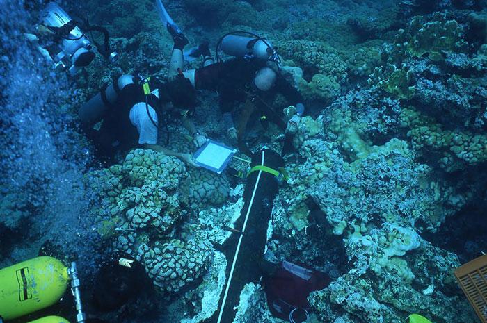 Analizan especialistas del INAH restos de buque hundido en aguas de Campeche