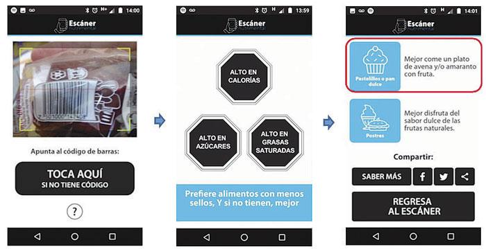 Diseñan app para conocer información nutrimental real de alimentos procesados