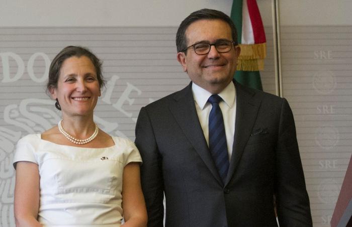 Canciller de Canadá y Guajardo se reunirán hoy previo a renegociar TLCAN
