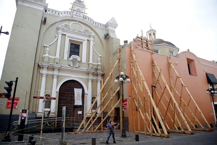 INAH iniciará reconstrucción en Puebla con recursos de seguro