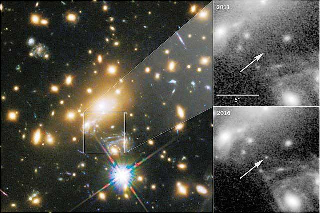 Detectan la estrella más lejana; está a 9 mil millones de años luz