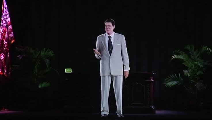 Ronald Reagan revive a través de un holograma
