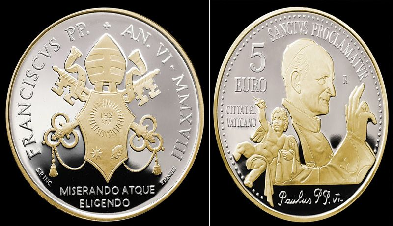 El Vaticano emite rara moneda de cinco euros